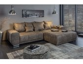 Extravagantes XXL Sofa ELEGANCIA 280cm taupe inkl. Kissen Bigsofa
