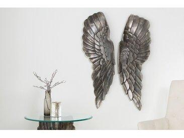 Riesige Wanddekoration FALLEN ANGEL 65cm Engelsflügel im asymmetrischen Design