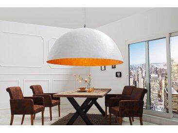 Elegante Design Hängeleuchte GLOW 70cm weiß gold Hängelampe