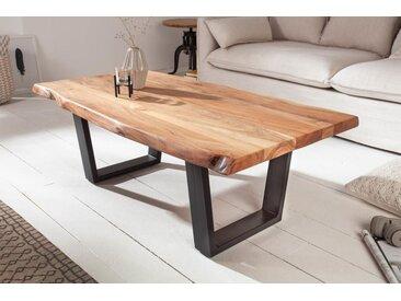 Massiver Baumstamm Couchtisch MAMMUT 110cm Akazie 3,5cm Tischplatte Baumtisch
