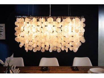 Design Hängelampe SHELL REFLECTIONS 80cm Muschellampe Perlmutt