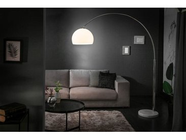 Ausziehbare Bogenlampe LOUNGE DEAL 175-205cm weiß Marmorfuß Stehlampe