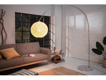 Filigrane Stehlampe COCOONING 205cm weiß Kugelleuchte