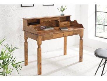 Eleganter Sekretär HEMINGWAY L 115cm Sheesham Massivholz Schreibtisch