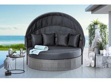 Outdoor Sonneninsel PLAYA LIVING 165cm dunkelgrau inkl. Kissen und drehbarer Sitzfläche