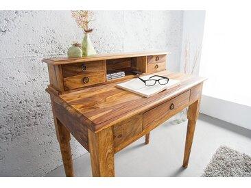 Eleganter Sekretär HEMINGWAY M 90cm Sheesham Massivholz Schreibtisch