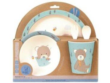 5tlg. Kindergeschirr-Set mit Holzfaser