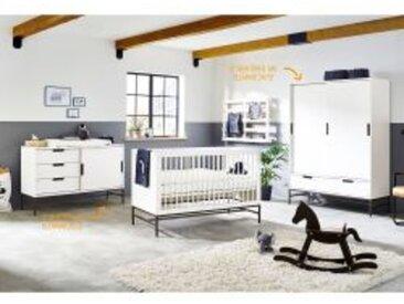 3-tlg. Babyzimmer Steel extrabreit groß