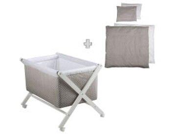 Stubenwagen klappbar mit Nestchen + Bettwäsche