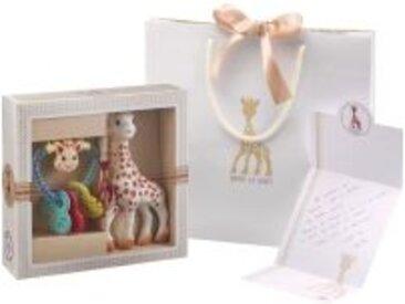Geschenkset Sophie la girafe aus Naturkautschuk + Herzrassel