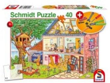 Puzzle mit Werkzeug-Set Die fleißigen Handwerker, 40 Teile