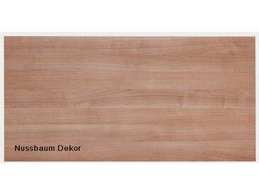 Tischplatte Hammerbacher K-Serie Rechteck 160 x 80 cm Nussbaum