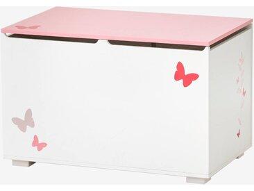 """Spielzeugtruhe ,,Schmetterlinge"""" für Kinder weiß/rosa"""