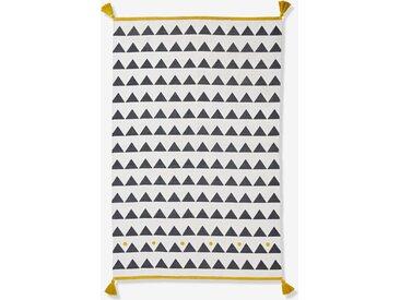 Kinderzimmer Teppich, Pompons und Fransen wollweiß