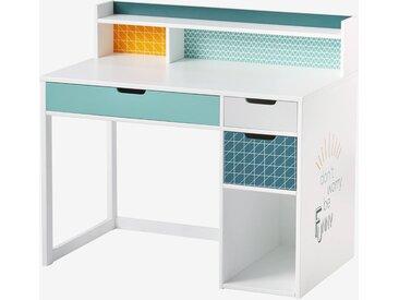 """Schreibtisch ,,Funny"""" weiß/blau gemustert"""