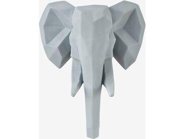 Leuchtender Elefantenkopf für Kinderzimmer hellgrau