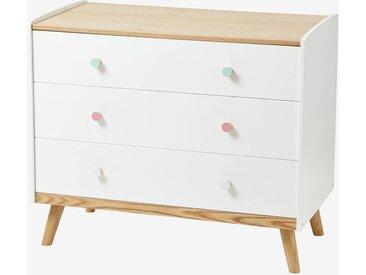 """Kommode """"Konfetti"""" für Kinderzimmer weiß/natur"""