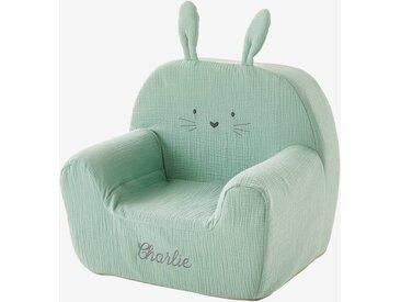 """Kinderzimmer Sessel ,,Hase"""", personalisierbar grün"""