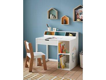 """Schreibtisch ,,Funny"""" für Vorschulkinder weiß/blau gemustert"""