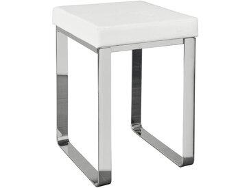 XXXLutz BADHOCKER, Weiß, Chrom, Metall, 37x47x35 cm