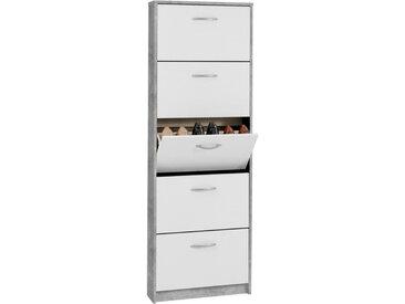 Carryhome SCHUHKIPPER melaminharzbeschichtet Weiß , Kunststoff, 58.5x168.5x17 cm