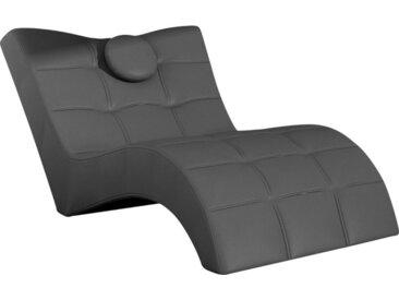 Livetastic RELAXLIEGE Lederlook Grau , 1-Sitzer, 84x92x170 cm