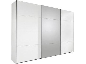 Carryhome SCHWEBETÜRENSCHRANK 3-türig Weiß , 270x210x65 cm