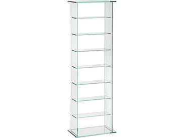 Xora CD-REGAL , Glas, 7 Fächer, 35x113x20 cm
