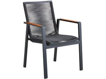 Amatio STAPELSESSEL Teakholz Aluminium Grau, Braun , Holz, Metall, Kunststoff, vollmassiv, 65x88.50x60 cm