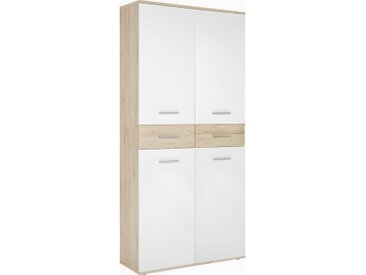 Xora SCHUHSCHRANK Weiß, Braun , 8 Fächer, 90x195x35 cm
