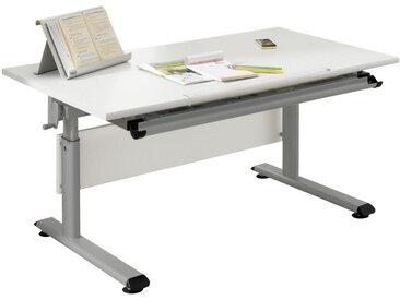 Paidi JUGENDSCHREIBTISCH Weiß , Silber, Weiß, Metall, 70x53 cm