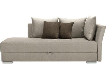 Livetastic LIEGE Webstoff braun, Beige , Uni, 4-Sitzer, 220x93x100 cm