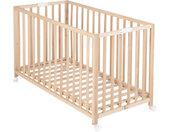 Roba Baby Fold Up , Buche , Holz , Buche , massiv , 60x120 cm , höhenverstellbar, Aufbauanleitung im Karton, Lattenrost inklusive , Babymöbel, Babybetten, Gitterbetten