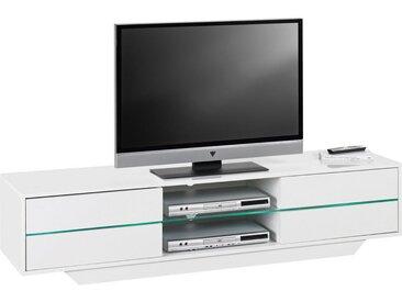 Livetastic TV-ELEMENT Weiß , Glas, 1 Fächer, 160x36x40 cm