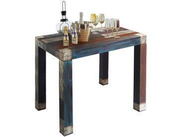 Livetastic: Tisch, Akazie, Mangoholz, Mehrfarbig, B/H/T 110 105 70