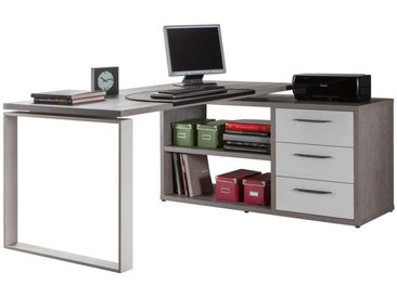 Carryhome: Tisch, Grau, Weiß, B/H/T 170 75 140
