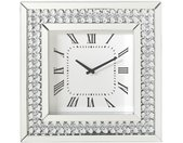 Xora WANDUHR , Silber, Weiß , Glas , 50x50x5 cm , Dekoration, Uhren, Wanduhren