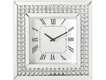 Xora WANDUHR Weiß , Silber, Weiß, Glas, 50x50x5 cm