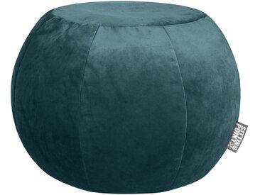 XXXLutz POUF Samt Uni Blau , ca.180 L, 50 cm