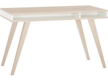 Livetastic JUGENDSCHREIBTISCH Weiß, Braun , 120x75x60 cm