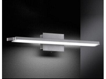XXXLutz WANDLEUCHTE, Weiß, Nickel, Metall, Kunststoff, 58x10 cm