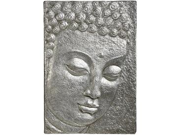 Monee OBJEKTBILD Buddha , Silber, Kunststoff, 89x129 cm