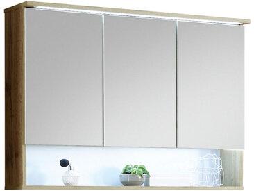 Livetastic SPIEGELSCHRANK Braun , Nachbildung, 3 Fächer, 99x70x23 cm