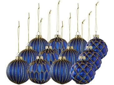 X-Mas: Christbaumkugeln-Set, Blau