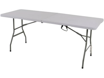 XXXLutz KLAPPTISCH rechteckig Weiß , Metall, Kunststoff, 70x74x180 cm