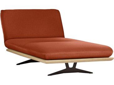 Dieter Knoll OTTOMANE Orange , Holz, Eiche, massiv, Uni, 114x92x165-218 cm