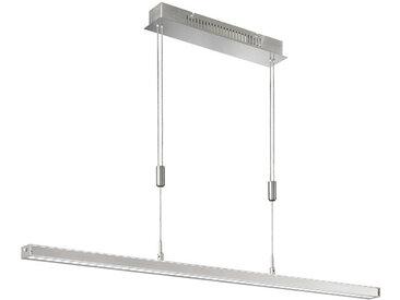 XXXLutz LED-HÄNGELEUCHTE , Nickel, Metall, Glas, 7x90-150 cm