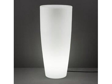XXXLutz LED-Blumentopf Weiß , Kunststoff, 40x90x40 cm