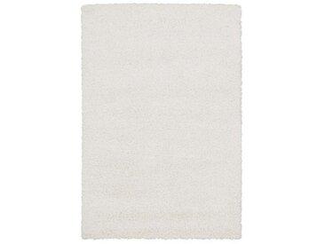Novel HOCHFLORTEPPICH 200/200 cm gewebt Weiß , Uni, 200x200 cm