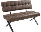 Carryhome SITZBANK , Braun , Vintage , 3-Sitzer , 140x93x61 cm , Esszimmer, Bänke, Sitzbänke